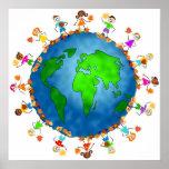 Miúdos globais da queda posteres
