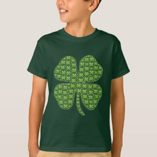 Miúdos irlandeses afortunados do trevo verdes camiseta