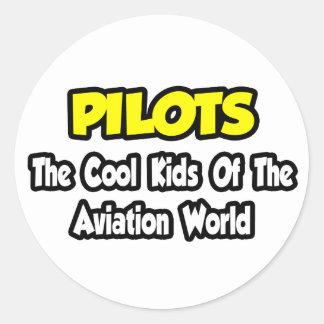 Miúdos legal dos pilotos… do mundo da aviação adesivos em formato redondos