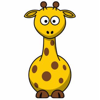 Miúdos manchados engraçados do girafa dos desenhos esculturafotos