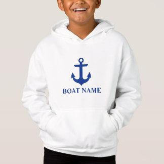 Miúdos náuticos da âncora do nome do barco