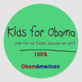 Miúdos para a etiqueta de Obama Adesivos Redondos