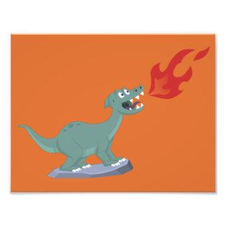 Miúdos queRespiram a arte do dinossauro por Jeff N Impressão De Foto