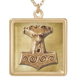 Mjölnir no ouro - colar 2 do ouro