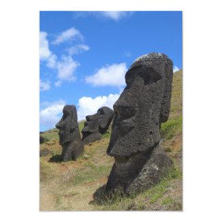 Moai na Ilha de Páscoa Convite Personalizados