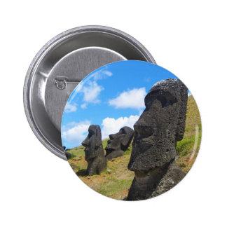 Moai na Ilha de Páscoa de Rano Raraku Boton