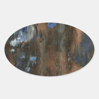 mobília de madeira textura envelhecida adesivo oval