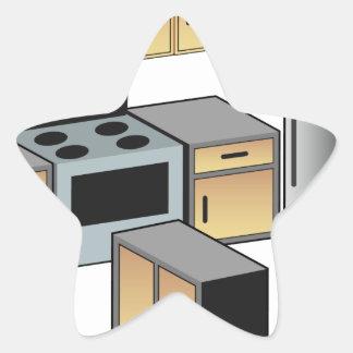Mobília e dispositivos da cozinha adesito estrela
