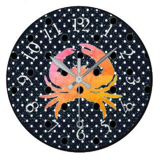 Mod-Dots-Crab_ Relógio Grande