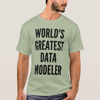 Modelador dos dados dos mundos o grande camiseta