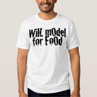 Modelará para a comida tshirt
