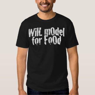 Modelará para Foood T-shirts