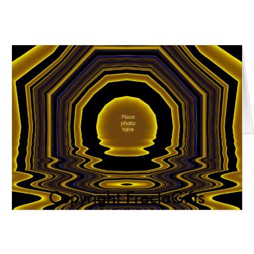 Modelo #10 da moldura para retrato do ouro cartões