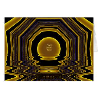 Modelo #10 da moldura para retrato do ouro cartão comemorativo