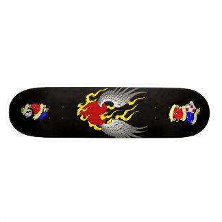 modelo 2 do skate, coração voado, tatuagem-fla… shape de skate 20cm