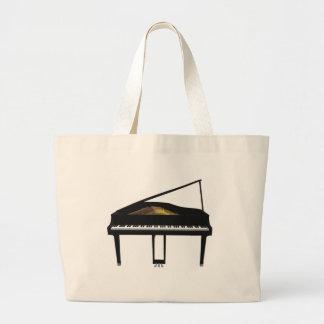 modelo 3D: Piano de cauda preto: Bolsa Para Compras