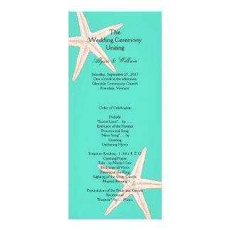 Modelo alto do programa do casamento da estrela do 10.16 x 22.86cm panfleto