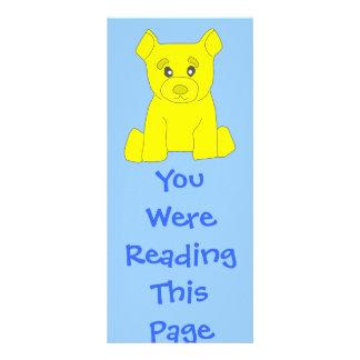 Modelo amarelo do marcador do urso 10.16 x 22.86cm panfleto