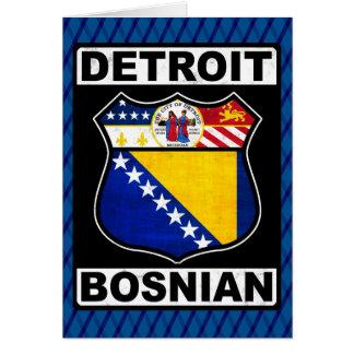 Modelo americano bosniano do cartão de Detroit