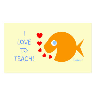 Modelo assistente do peixe dourado do professor cartão de visita