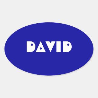 Modelo atraente do nome de etiqueta adesivo oval