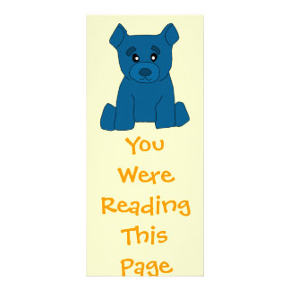 Modelo azul do marcador do urso 10.16 x 22.86cm panfleto