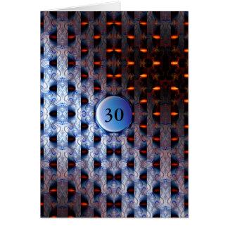Modelo azul e alaranjado cartão comemorativo