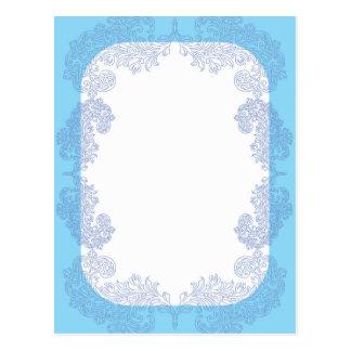 Modelo azul elegante do convite cartão postal
