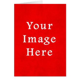 Modelo brilhante vermelho da cor do pergaminho do  cartão comemorativo