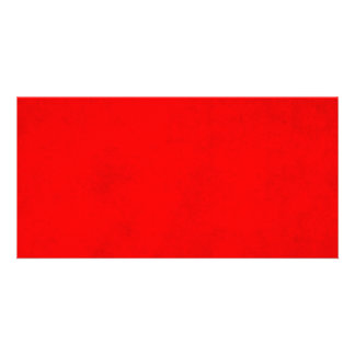 Modelo brilhante vermelho da cor do pergaminho do  cartão com foto