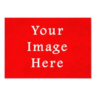 Modelo brilhante vermelho da cor do pergaminho do convite 8.89 x 12.7cm