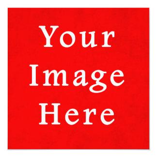 Modelo brilhante vermelho da cor do pergaminho do convite quadrado 13.35 x 13.35cm