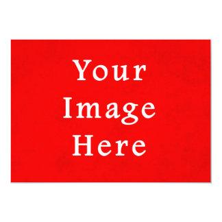 Modelo brilhante vermelho da cor do pergaminho do convite 12.7 x 17.78cm