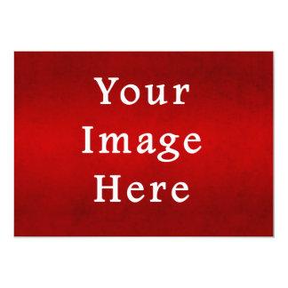 Modelo carmesim vermelho da cor do pergaminho do convite 12.7 x 17.78cm