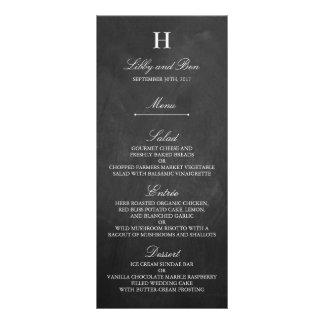 Modelo chique do menu do casamento do quadro