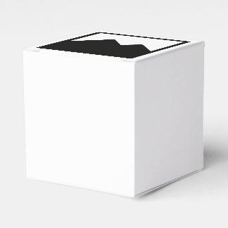 Modelo clássico da caixa do favor do casamento 2x2