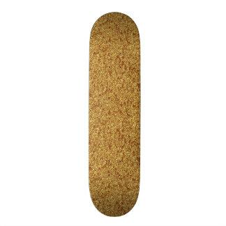 Modelo completo do skate do brilho do ouro