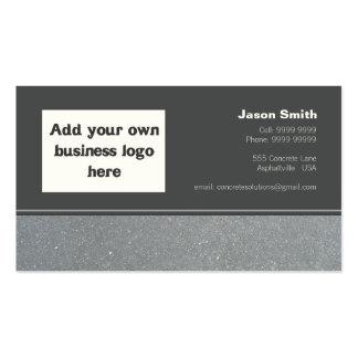 Modelo concreto do design da comissão das construç cartões de visita