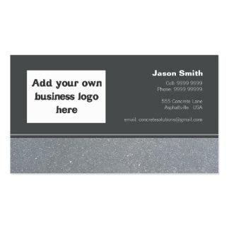 Modelo concreto do design da comissão das construç modelo cartão de visita