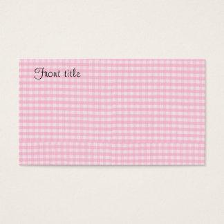 Modelo cor-de-rosa do fundo do tecido do tabuleiro cartão de visitas