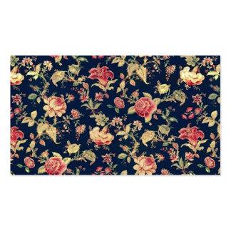 Modelo cor-de-rosa floral do teste padrão do vinta cartão de visita