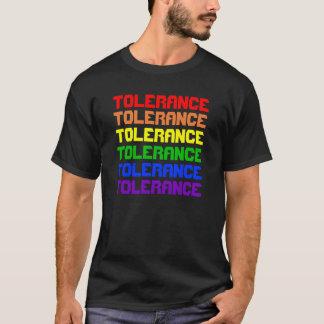 Modelo da camisa do texto do arco-íris
