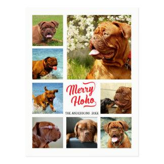 Modelo da colagem da foto de família da feliz Ho Cartão Postal