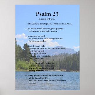 Modelo da escritura, salmo 23 poster