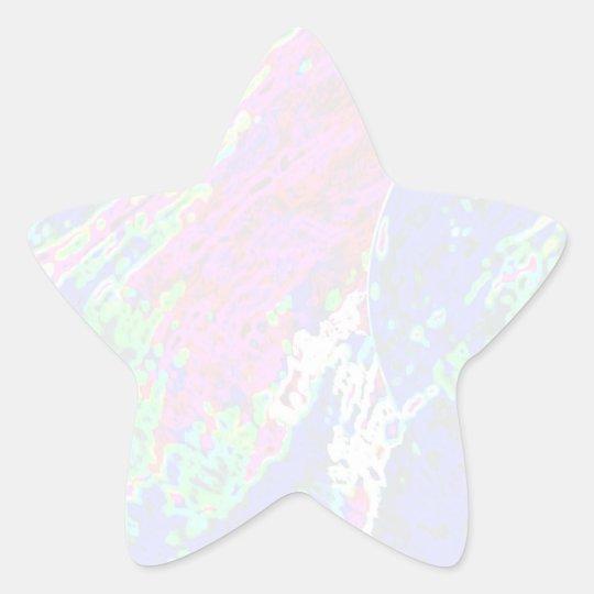 Modelo da estrela de NOVINO - ondas Adesivo Estrela