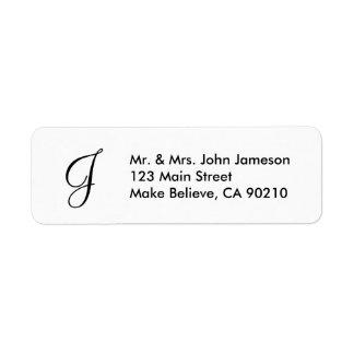 Modelo da etiqueta de endereço do Sr. & da Sra.