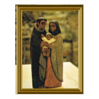 Modelo da família santamente cartão postal