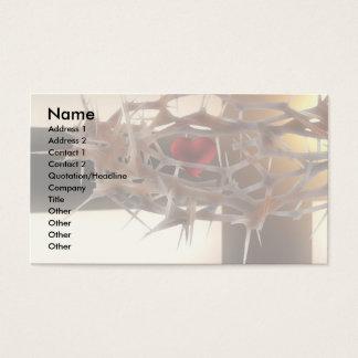 Modelo da fé cartão de visitas