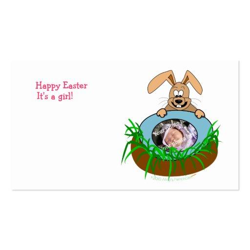 Modelo da foto do anúncio do bebê do coelhinho da  cartões de visita
