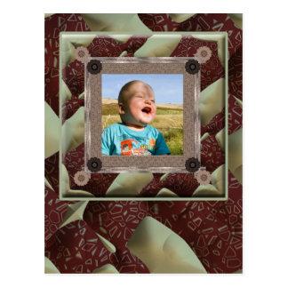 Modelo da foto do entusiasta da edredão cartão postal